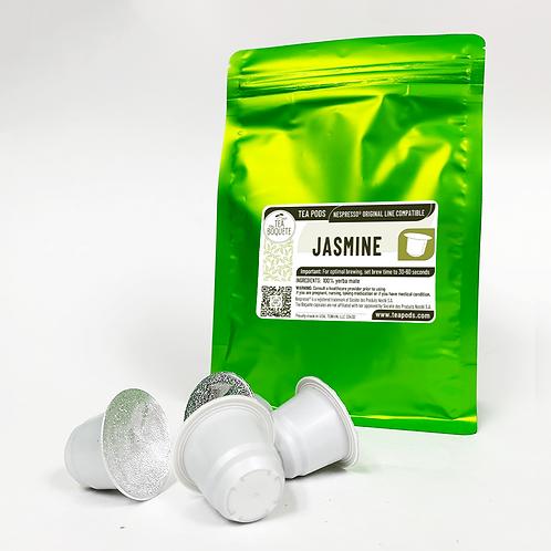Jasmine Green Tea Pods for Nespresso Brewers OriginalLine Compatible Capsules