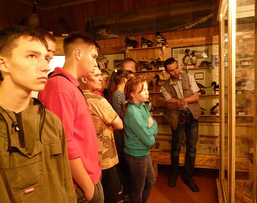 Экскурсия в музее заповедника