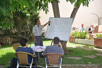 Moroccan Arabic students in class