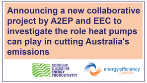 A2EP and EEC to research the potential for heat pumps to aid decarbonisation in Australia