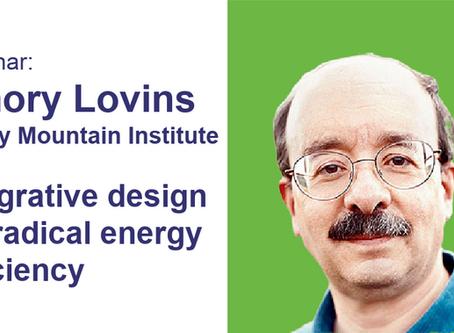 WATCH: Amory Lovins - Integrative design for radical energy efficiency