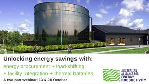 Two-part webinar: Unlocking energy savings for businesses