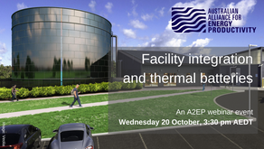 EVENT: Facility integration and thermal batteries - 20 October