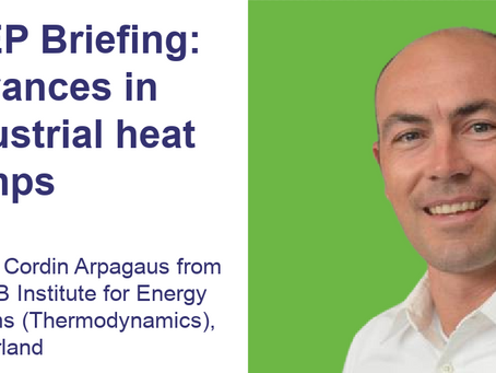 WATCH: A2EP Briefing - Advances in industrial heat pumps