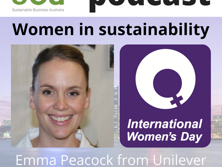 Podcast: Women in Sustainability - Emma Peacock from Unilever