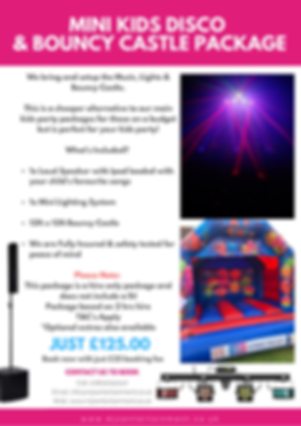 Mini Kids Disco & Bouncy Castle Package