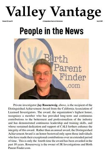 Jay Rosenzweig Award Winning Private Investigator