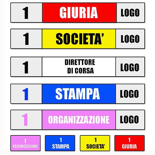 Adesivi vetture auto organizzative e team