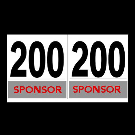 Numeri Dorsali - Misura regolamentare UCI: 16×18 cm - Serie 1-200
