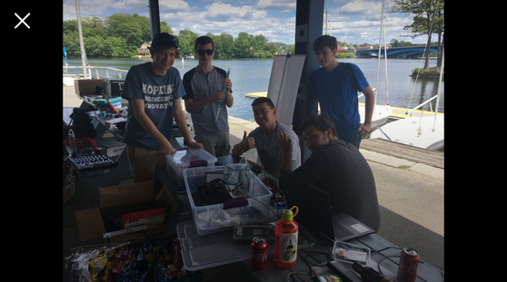 Bneck Team Working on Sailbot