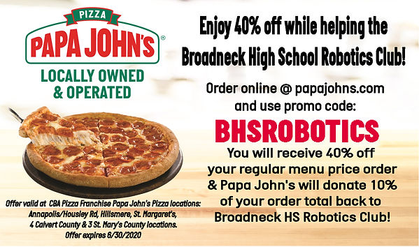 Flyer Fundraising Code Broadneck High Sc