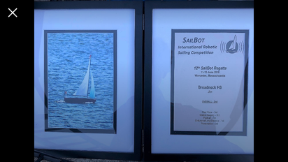Sailbot Wins 2nd Place in 2017-2018 Comp.