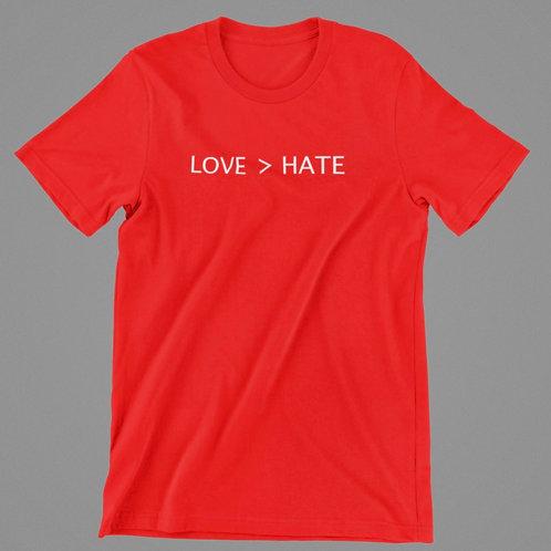LOVE >HATE