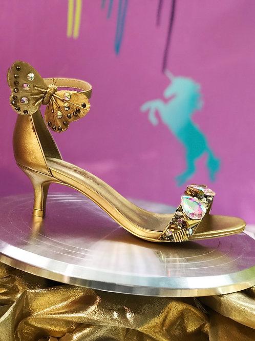 Samantha Golden Butterfly Bridal Heels