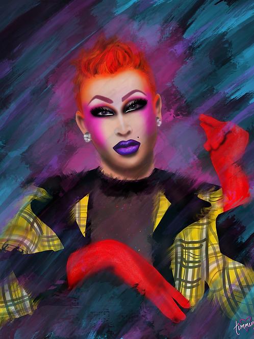 Miss Laila McQueen Art Print