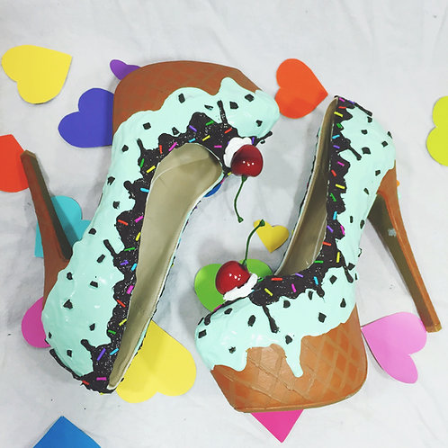 Mint Chocolate Chip Ice Cream Stilettos