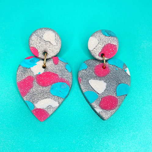 The Perfect Storm Handmade Clay Earrings