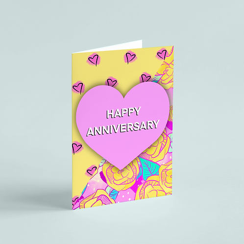 Anniversary Wild Rose Fusion Note Card