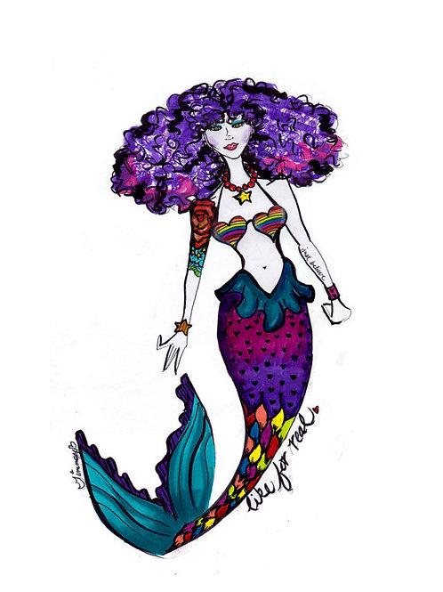 Rainbow Punk Mermaid