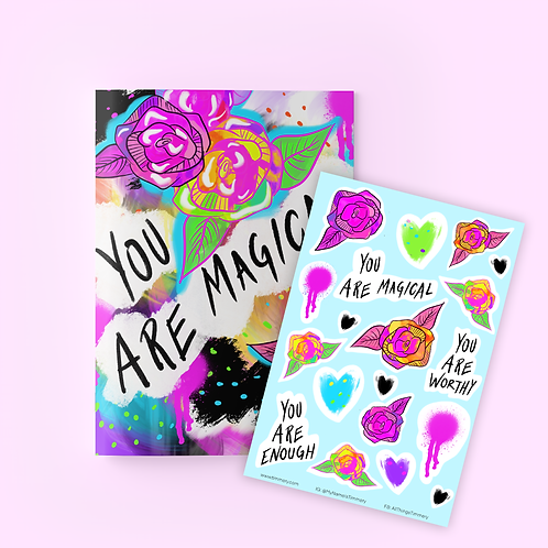 You Are Magical Journal + Sticker Sheet