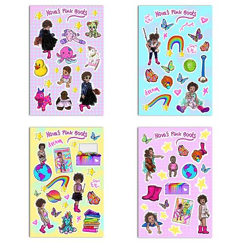 Nova's Pink Boots - 86 Piece Sticker Pack