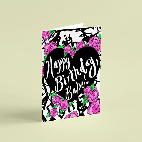 Birthday Babe Note Card