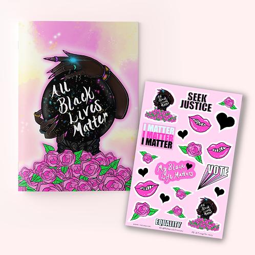 All Black Lives Matter Journal + Sticker Sheet
