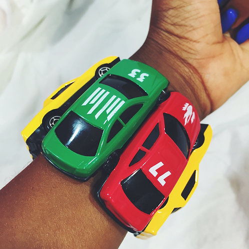 Vroom! Rasta Toy Car Stretch Bracelet