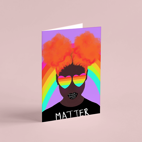 #BlackQueerLivesMatter 1 Note Card