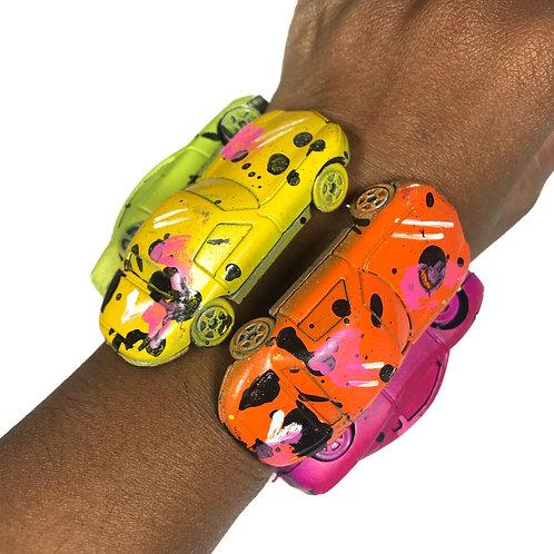 Electric Rainbow Toy Car Stretch Bracelet
