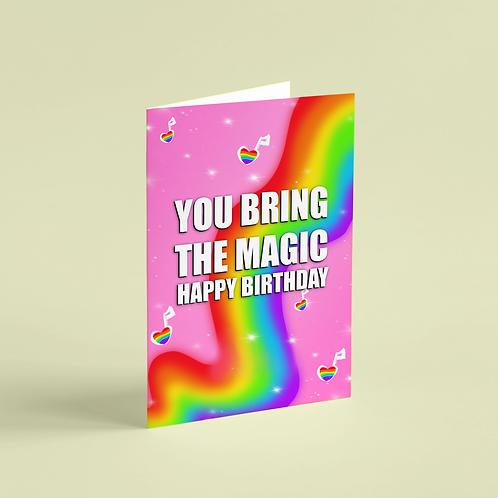 Birthday Bring the Magic Note Card