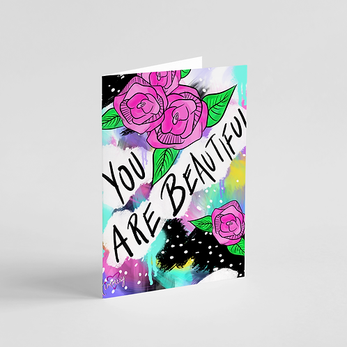 You Are Beautiful Note Card