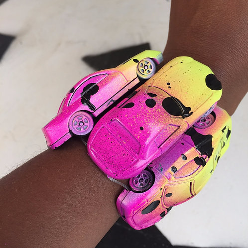 Neon Barbie Toy Car Stretch Bracelet