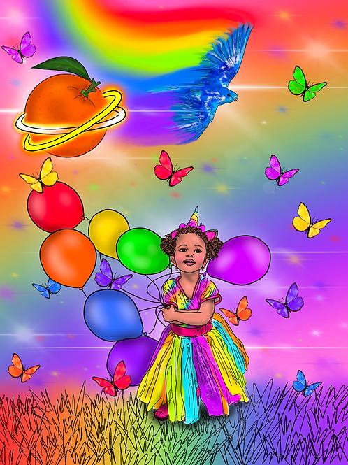 Rainbowland Art Print