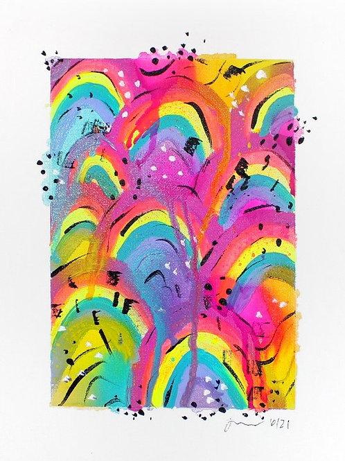 Rainbow Land Original Art