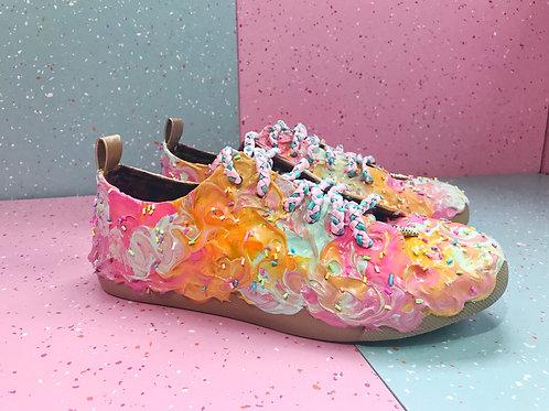 Rainbow Sherbert Low Top Sneakers