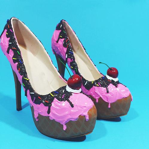 Strawberry Dream  Ice Cream Sundae Stilettos