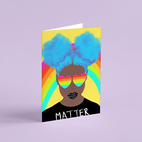 #BlackQueerLivesMatter 2 Note Card