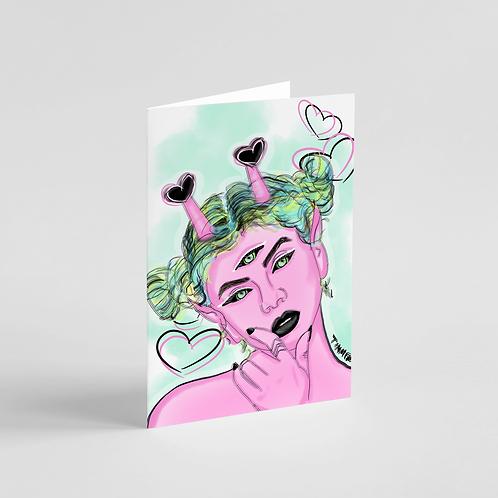 Cosmic Cutie Note Card