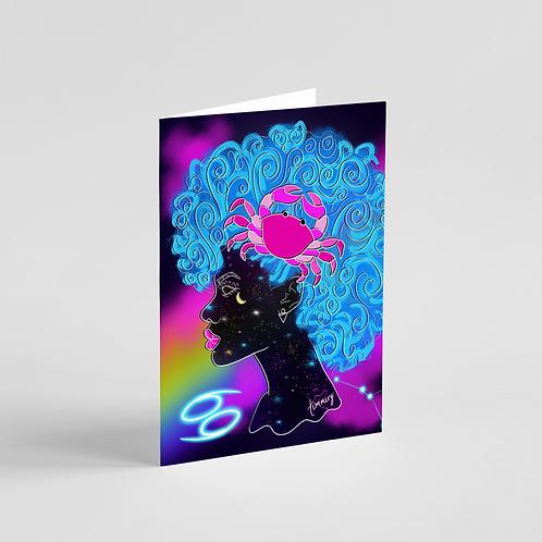Cancer Zodiac Goddess Note Card