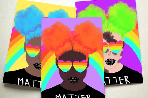 #BlackQueerLivesMatter Assorted Note Cards