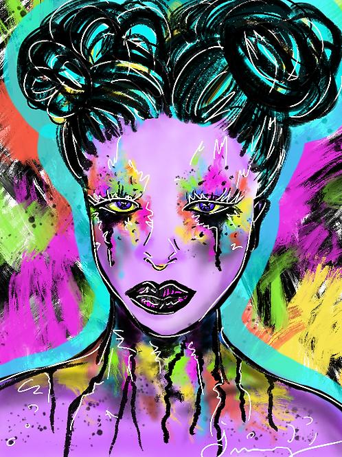 Rainbow Goth Princess