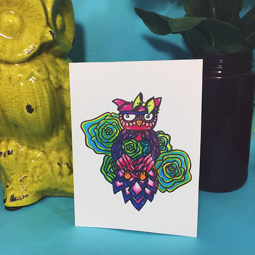 Pretty Owl Note Cards