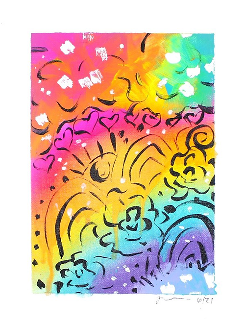 Rainbow Rays Original Art