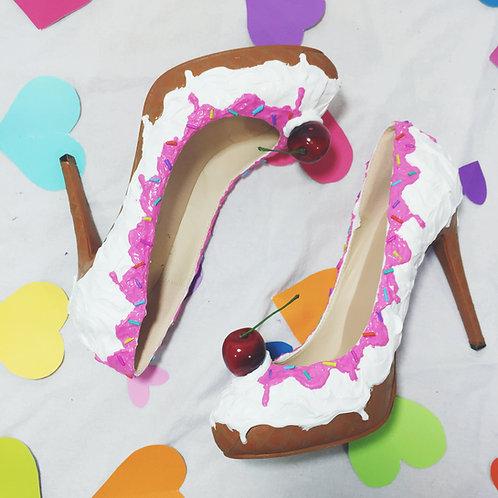 """Ice Cream Sundae 4"""" Stiletto Party Shoes"""