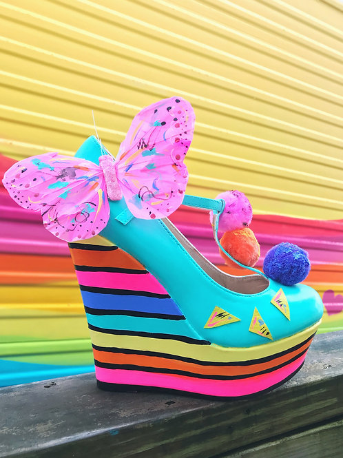 Limited Edition Fly Rainbow Artisan Wedges