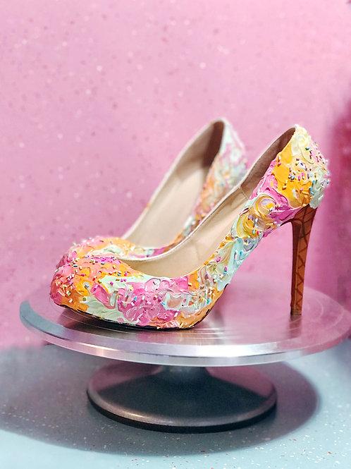 Rainbow Sherbert Ice Cream Heels