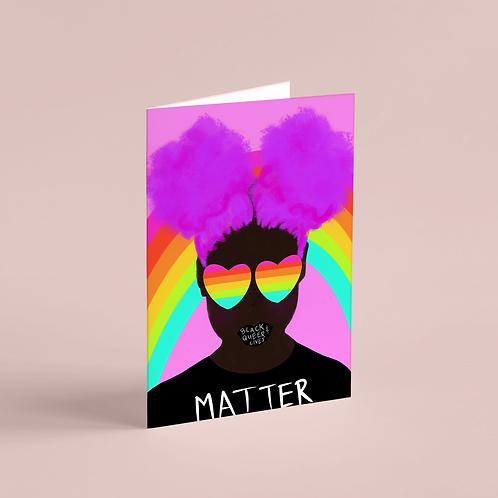 #BlackQueerLivesMatter 3 Note Card