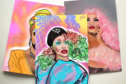 Drag Queens Assorted Note Cards