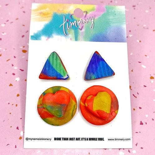 Handmade Clay Earrings